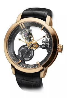 Hysek ultra skeletal tourbillon  watch. In  addition to being an expensive work of art, it is an item of presence that will be the center of conversation at any dinner gathering...  ~CR View~