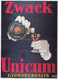 """A Hungarian liquor. This and more with Serious Eats """"Ask a Bartender"""" series. They recommend lots of lesser known spirits and liqueurs for your cocktail repertoire. Vintage Advertising Posters, Vintage Advertisements, Vintage Ads, Vintage Posters, Retro Posters, Retro Ads, Old Signs, Arts And Crafts Movement, Illustrations And Posters"""