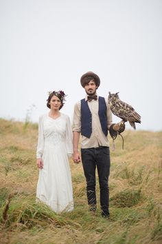 A wild and wintry Cornish photoshoot with reindeer and timeless vintage styling