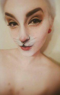 White rabbit make up                                                                                                                                                                                 More