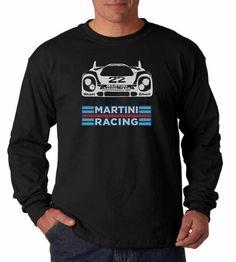 Martini Racing PorscheTee Shirt in Black  MLXL Short by TJaysTees, $20.00