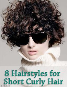 8 Hairstyles for Short Curly Hair : If you have long hair, your looking at those sexy short hair styles. Short Curly Hair, Short Hair Cuts, Curly Hair Styles, Short Curls, Curly Perm, Curly Pixie, Curly Bob, Curly Bangs, Short Wavy