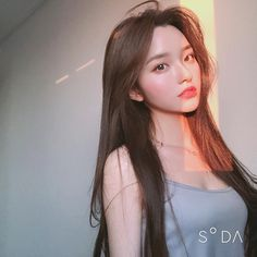 Brown Hair And Brown Eyes: Character Inspiration Pretty Korean Girls, Korean Beauty Girls, Cute Korean Girl, Cute Asian Girls, Beautiful Asian Girls, Asian Beauty, Korean Girl Ulzzang, Mode Ulzzang, Uzzlang Girl