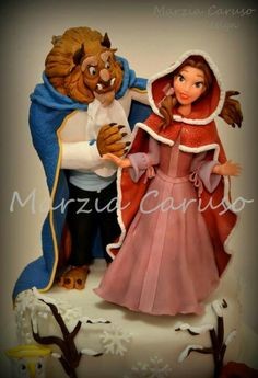 Cake Topper Disney La Bella Y La Bestia : PRINCESAS on Pinterest Snow White Cake, Disney and ...