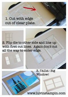 double window step by step using the hearth and home thinlits from Stampin' UP! new Holiday Catalog