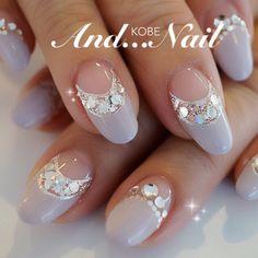 french nails tips Round Beautiful Nail Designs, Cute Nail Designs, Beautiful Nail Art, Dream Nails, Love Nails, Pretty Nails, Bridal Nails, Wedding Nails, Japanese Nail Art