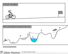 Your plans vs. the universe's plans for you....