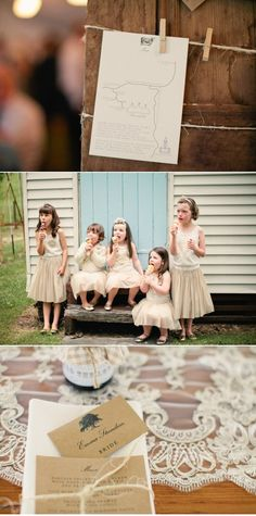 Cute/Casual little ones wedding party attire