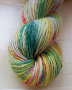 Sock yarn hand painted merino alpaca 100g green by SpinningStreak, $16.00