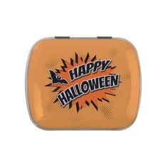 #Happy Halloween Candy Tin - #halloween #party #stuff #allhalloween All Hallows' Eve All Saints' Eve #Kids & #Adaults