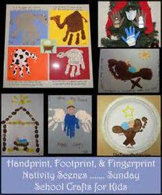 Handprint Nativity Scenes, Footprint