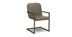Alchemy Elephas Gray Dining Armchair - Dining Chairs - Article | Modern, Mid-Century and Scandinavian Furniture