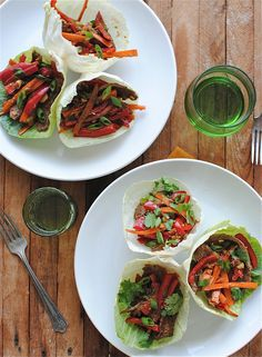 Beef Stir-Fry Cabbage Cups