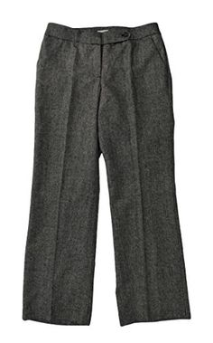 NEW Calvin Klein Womens Classic Fit Wool Blend Dress Pants Lined Black White 4 ** You can get additional details at the image link.