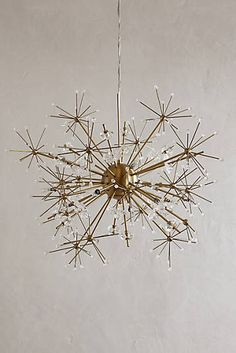 Anthropologie, Dandelion Orbit Chandelier