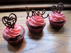 Cute chocolate cupcake decorations