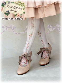 Victorian Maiden | Rose Garden Tights (35D)