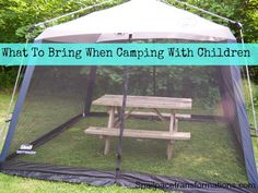 What To Bring When Camping With Children - Snail Pace Transformations. What a fabulous list.