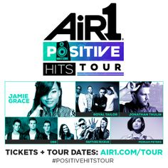 Which Air1 artist are you most excited to jam with at the #PositiveHitsTour? Tickets on sale now! >> http://www.air1.com/tour.aspx