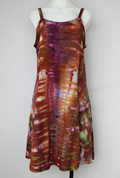 Tie Dye Rayon Sun dress Summer dress Ice Dyed - Size Medium - Na's Favorite snakeskin by ASPOONFULOFCOLORS on Etsy