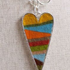 Felted necklace by Murdock Design on Etsy