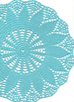 Crochet doily, lace doily, table decoration, crocheted place mat, centre piece,doily tablecloth, turquoise, napkin, aqua, handmade doilies