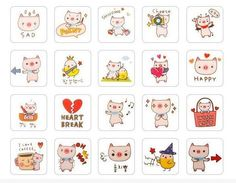 Pig stamp set with ink pad http://www.diaryfriendsshop.com/product/19/pig-stamp-set-with-ink-pad…