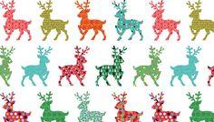 Fat Quarter Weihnachten festlich Rentier Baumwolle Steppung Stoff Makower 1492-1