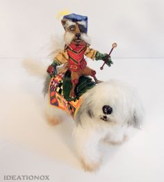 """Sir Didymus Dimensions : Height : 4-1/2"""" Width : 3-1/2"""" Head-To-Tail : 5""""  Ambrosius Dimensions : Height : 6"""" Width : 3-3/4"""" Head-To-End : 8"""" Head-To-Tail : 10""""  USA Shipping Included International Shipping Available"""