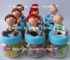 Lembrancinhas Potinhos Toy Story | Biscuit By Andréa Fujitami | Elo7