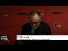 """Philippe Val: """"C'est l'arme absolue de rire. C'est l'arme de la démocratie"""". - YouTube"""