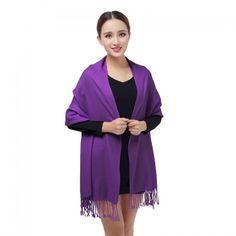 Solid Color Shawl AZ19-21 Purple