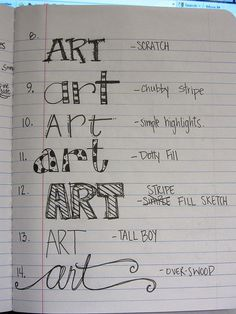 Make a catalog of different hand-lettering styles as a reference!