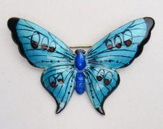 english-deco-sterling-silver-enamel-butterfly-brooch