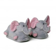 Elefant plush slippers pink ears