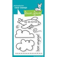 """Lawn Fawn Clear Stamps 3""""X4"""" - Bon Voyage"""