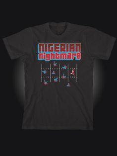 Barry Sanders Tecmo Bowl Superbowl 8Bit Video Game T Shirt