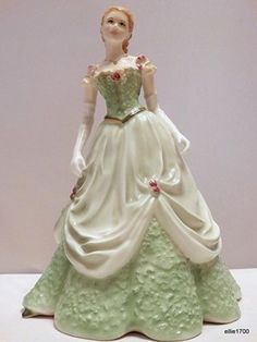 Royal Worcester Figurine Southern Belle Collection Melanie Made in England L Ed | eBay