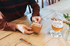 Holder for cards and bills caramel Swiss Design, Caramel Color, Men's Accessories, Coins, Men Accessories