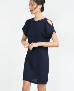 Image 2 of DRESS WITH NECKLACE NECKLINE from Zara