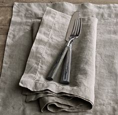 Stonewashed Belgian Linen Dinner Napkins, Set of 4