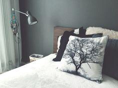 bedroom, dreamcatcher, IKEA bed and lamp, DIY