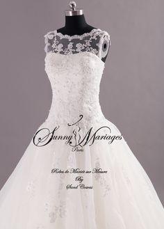 Robe de mariee princesse dentelle sur mesure pas chere   Sunny Mariage