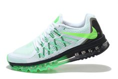 finest selection d7553 f9b0d NIKE AIR MAX 2015 MEN RUNNING SHOES WHITE BLACK FLUORESCENT GREEN