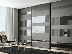 Lacquered wooden wardrobe with sliding doors SEGMENTA NEW by MisuraEmme design Mauro Lipparini Glass Sliding Wardrobe Doors, Sliding Wardrobe Designs, Sliding Door Design, Wardrobe Design Bedroom, Sliding Doors, Closet Doors, Wardrobe With Mirror, Entry Doors, Garage Doors
