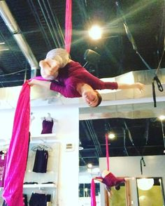 """16 Likes, 2 Comments - Sparrow Vitus (@sparrow_on_a_swing) on Instagram: """"That smile was because I kicked the low, low ceiling!  Hip hang into a pretty pixie shape into a…"""""""