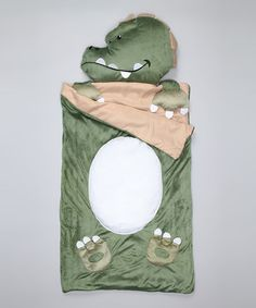 Just got this AME Green Dino Slumber Bag by Pajama Party Collection on @zulily today!