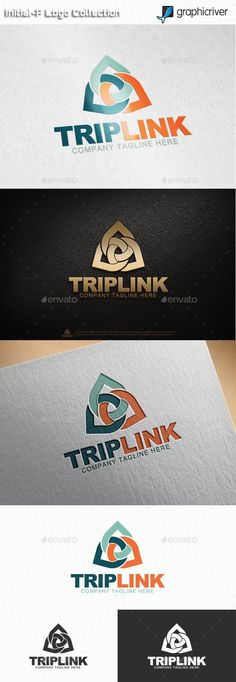 Trip Link Logo: Abstract Logo Design Template created by initial-P. Logo Design Template, Logo Templates, Best Logo Design, Graphic Design, Print Fonts, Abstract Logo, Information Graphics, Text Color, Business Branding