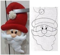 Santa Claus by Nanys Crafts Easy Christmas Ornaments, Felt Christmas Decorations, Christmas Gnome, Christmas Sewing, Felt Ornaments, Simple Christmas, Christmas Art, Christmas Projects, Christmas Stockings
