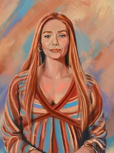 WandaVision Portrait Timelapse - Scarlet Witch - Elizabeth Olsen - Wanda - Marvel